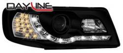 Передние светодиодные фары Ауди 100 (Audi 100) 90-94, черный