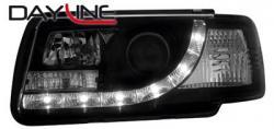 Передние светодиодные фары Ауди 80 Купе (Audi 80 Coupe) 91-94, черный