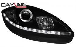 Передние светодиодные фары Сеат Альтеа (Seat Altea), с 05 черный