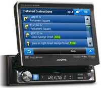 Alpine IVA-D511RB - DVD/CD/MP3/WMA/AAC/Divx - магнитола (ресивер) с монитором