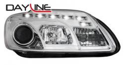Передние светодиодные фары Фольцваген Кадди (VW Caddy) 04-09, хром