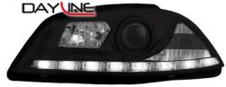 Передние светодиодные фары Сеат Ибица (Seat Ibiza), 03-08 черный