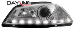 Передние светодиодные фары Сеат Ибица (Seat Ibiza), 03-08 хром