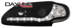 Передние светодиодные фары Рено Меган (Renault Megane) 96-99, черный