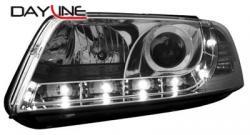Передние светодиодные фары Фольцваген Пассат B5 (VW Passat B5) 01+, хром