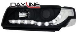 Передние светодиодные фары Фольцваген Пассат B3/B4 (VW Passat B3/B4) 93-97, черный