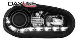 Передние светодиодные фары Фольцваген Гольф 4 (VW Golf 4) , черный