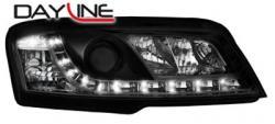 Передние светодиодные фары Фиат Стило (Fiat Stilo) 01-08, черный
