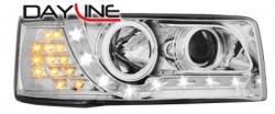 Передние светодиодные фары Фольцваген Т4 (VW T4) 90-03, хром