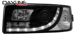 Передние светодиодные фары Фольцваген Т4 (VW T4) 90-03, черный
