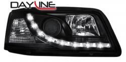 Передние светодиодные фары Фольцваген Т5 (VW T5) 03, черный
