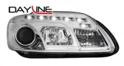 Передние светодиодные фары Фольцваген Тоуран (VW Touran) 03-06, хром