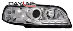 Передние светодиодные фары Вольво С/В40 (Volvo S/V40), 96-99. хром