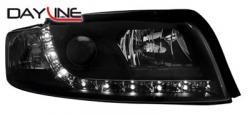 Передние светодиодные фары Ауди А4 (Audi A4) 01-04, черный