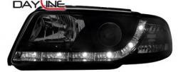 Передние светодиодные фары Ауди А4 (Audi A4) 95-98, черный