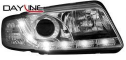 Передние светодиодные фары Ауди А4 (Audi A4) 95-98, хром