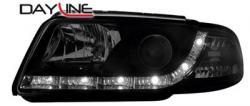 Передние светодиодные фары Ауди А4 (Audi A4) 99-01, черный