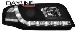 Передние светодиодные фары Ауди А6 (Audi A6) 01-03, черный