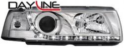 Передние светодиодные фары БМВ Е36 купе (BMW E36 Coupe) 92-99, хром