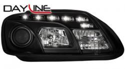Передние светодиодные фары Фольцваген Кадди (VW Caddy) 04-09, черный