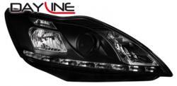 Передние светодиодные фары Форд Фокус 2 (Ford Focus 2) 08-11, черный