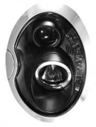 Передние светодиодные фары Мини Купер С (Mini Cooper S) 01-07, черный
