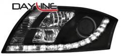 Передние светодиодные фары Ауди ТТ (Audi TT) 98-06, черный