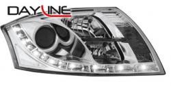 Передние светодиодные фары Ауди ТТ (Audi TT) 98-06, хром